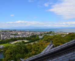 滋賀県彦根城からの景色