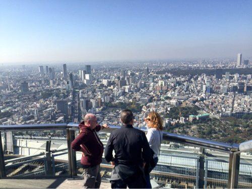 東京の街をみおろす