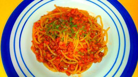 高野豆腐のトマトパスタ